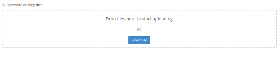 file upload in cpanel