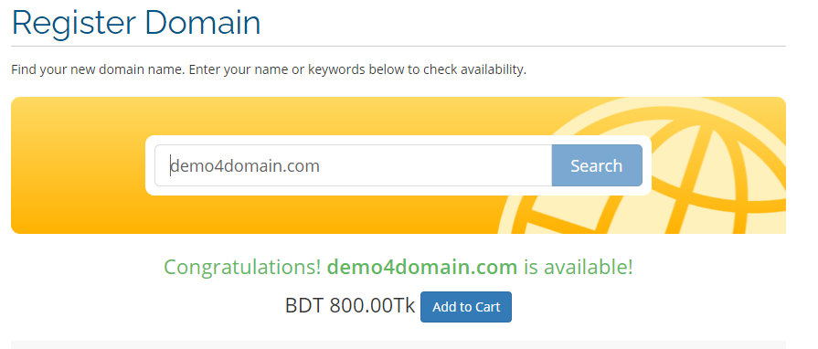 domain search in linkhost bd